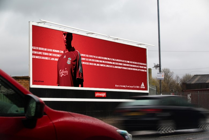 Poster site in Liverpool showing the Adidas campaign